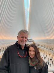 Paul O'Halloran and Kathleen O'Halloran at The Oculus at the World Trade Center.