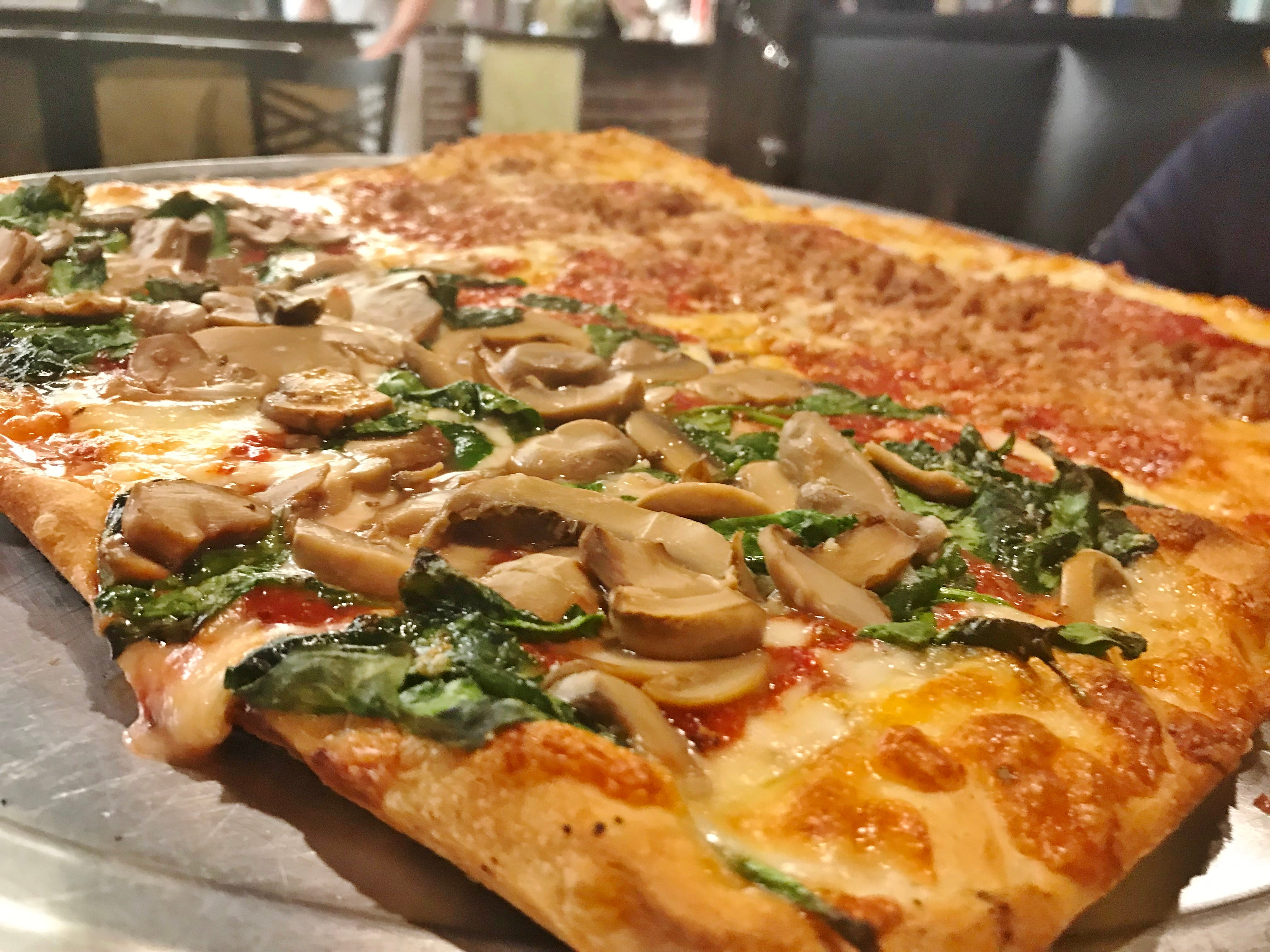The grandma pizza is a thin-crust square pizza with housemade tomato sauce and cheese. Frank & Al's Pizza has two locations, one in Port St. Lucie and the other in Fort Pierce.