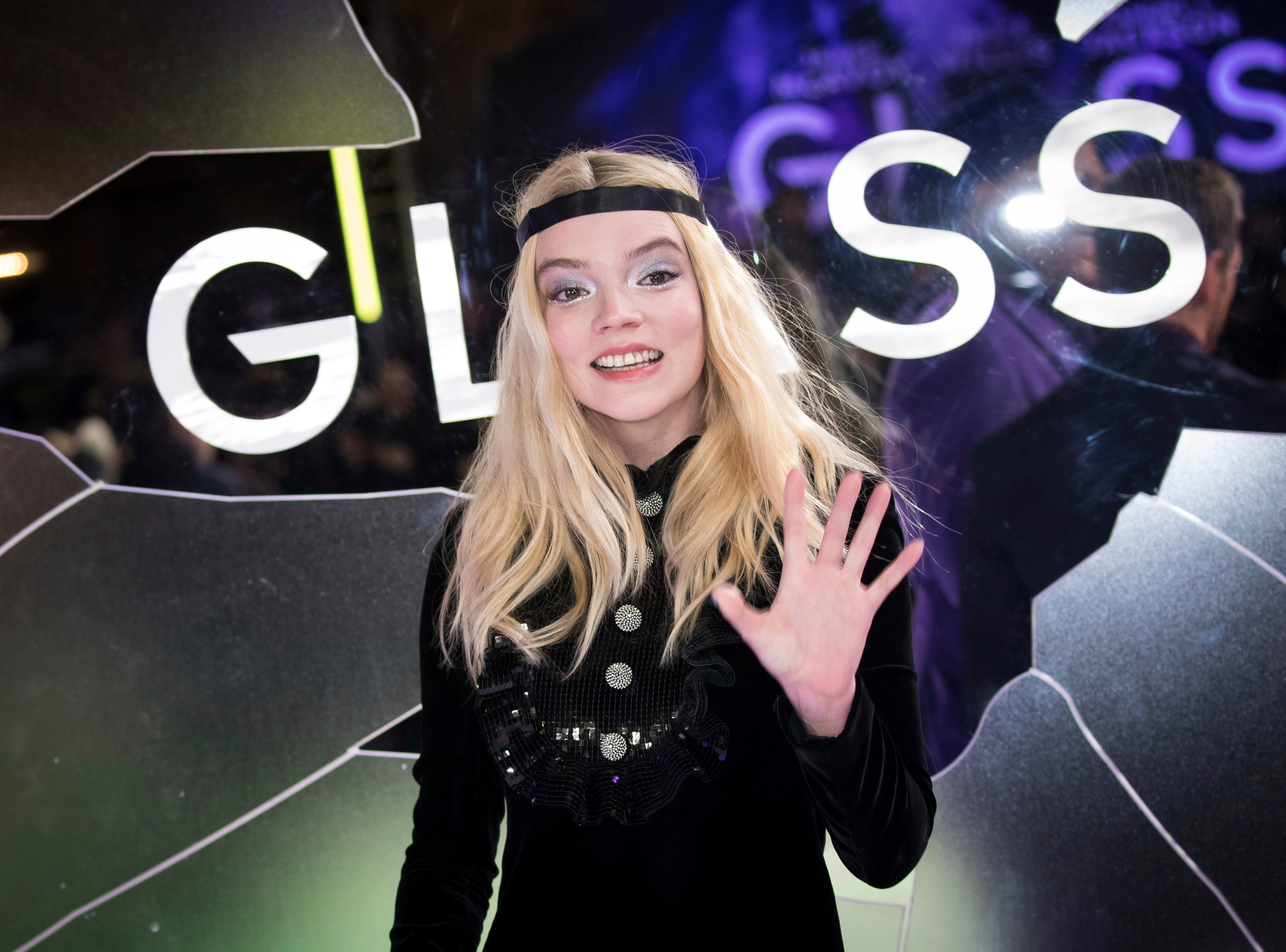 """Actress Anya Taylor-Joy poses for photographers upon arrival at the premiere of the film """"Glass"""" in London, Wednesday, Jan. 9, 2019."""