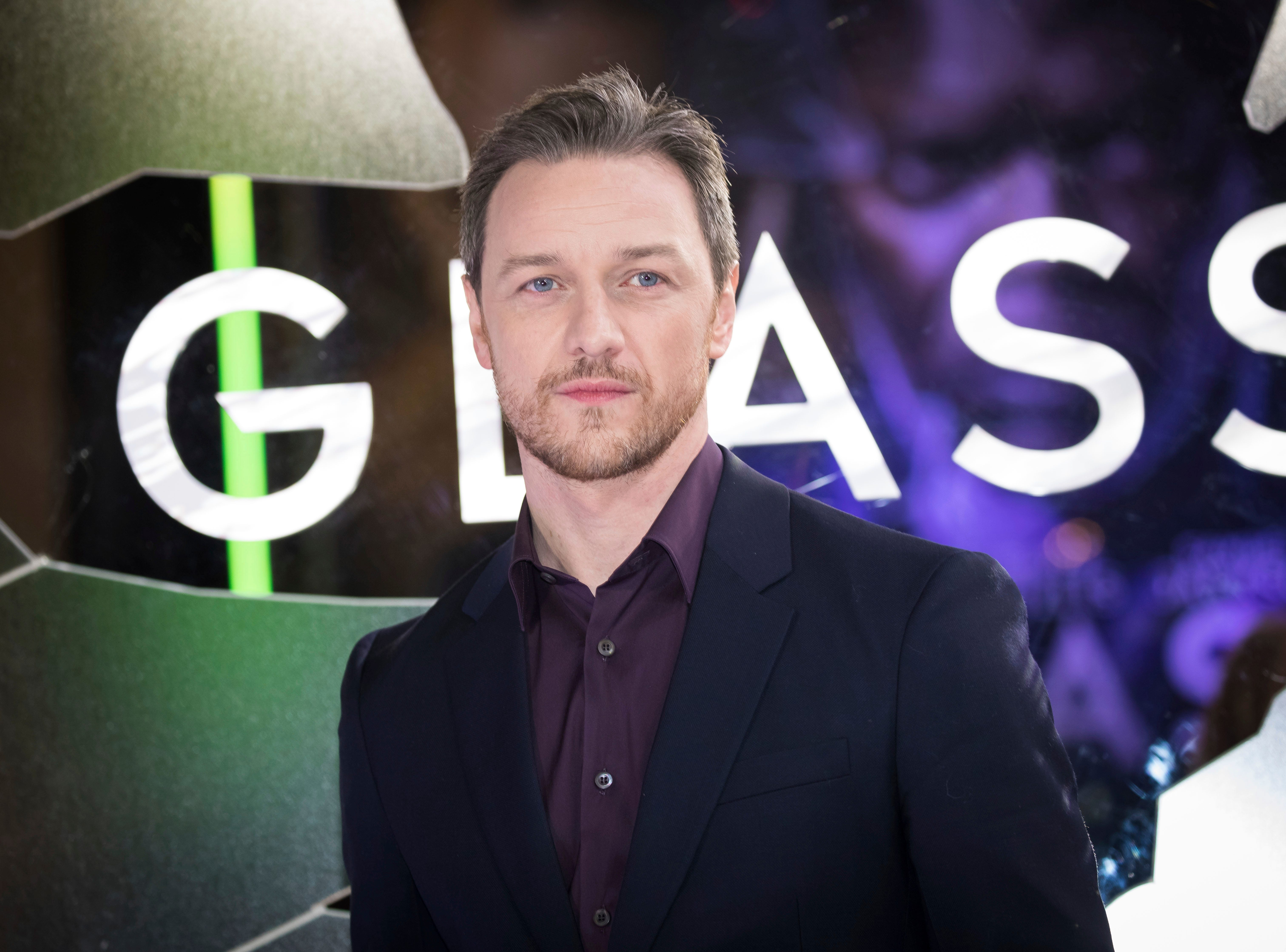 """Actor James McAvoy poses for photographers upon arrival at the premiere of the film """"Glass"""" in London on Wednesday, Jan. 9, 2019."""