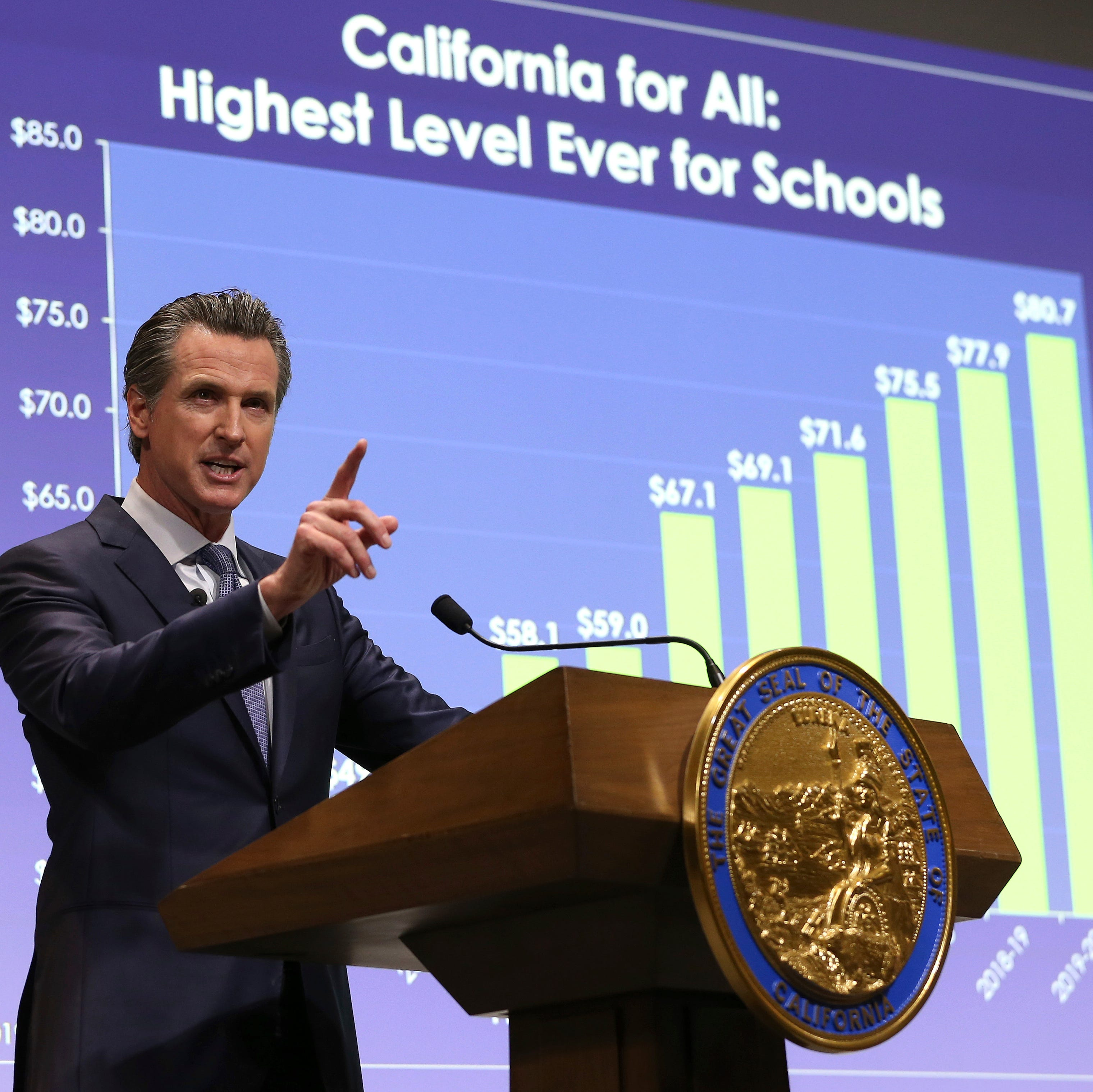 Gavin Newsom's first budget uses surplus to expand funding for housing, healthcare and education