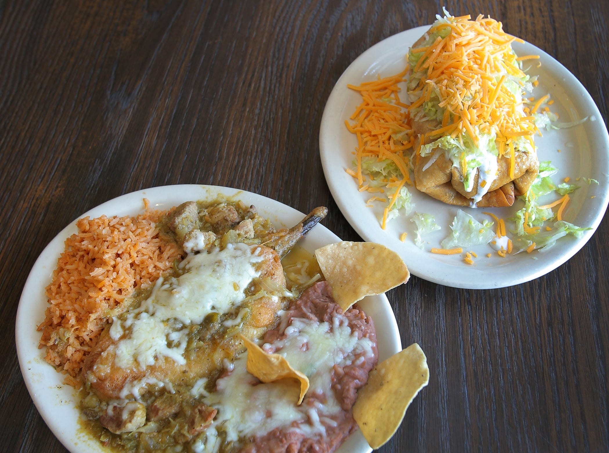The Somis Café and Market has long been known for its large selection of authentic Mexican food. Pictured is its popular chile relleno plate and a chimichanga. The Somis Café and Market first opened in 1974.