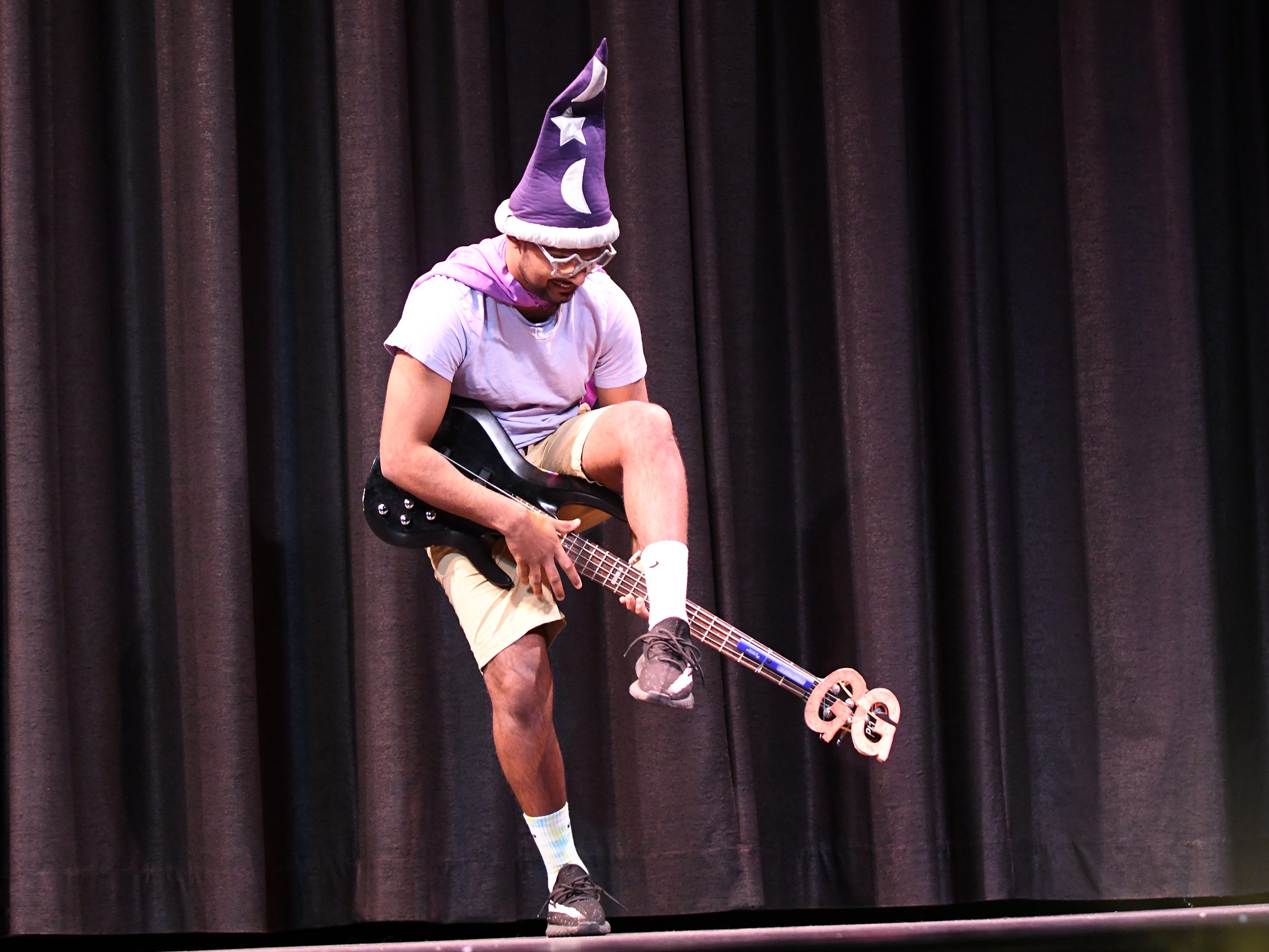 Vedant Patel performs during the talent portion of Mr. Vineland 2019 at Vineland High School on Thursday, January 10.