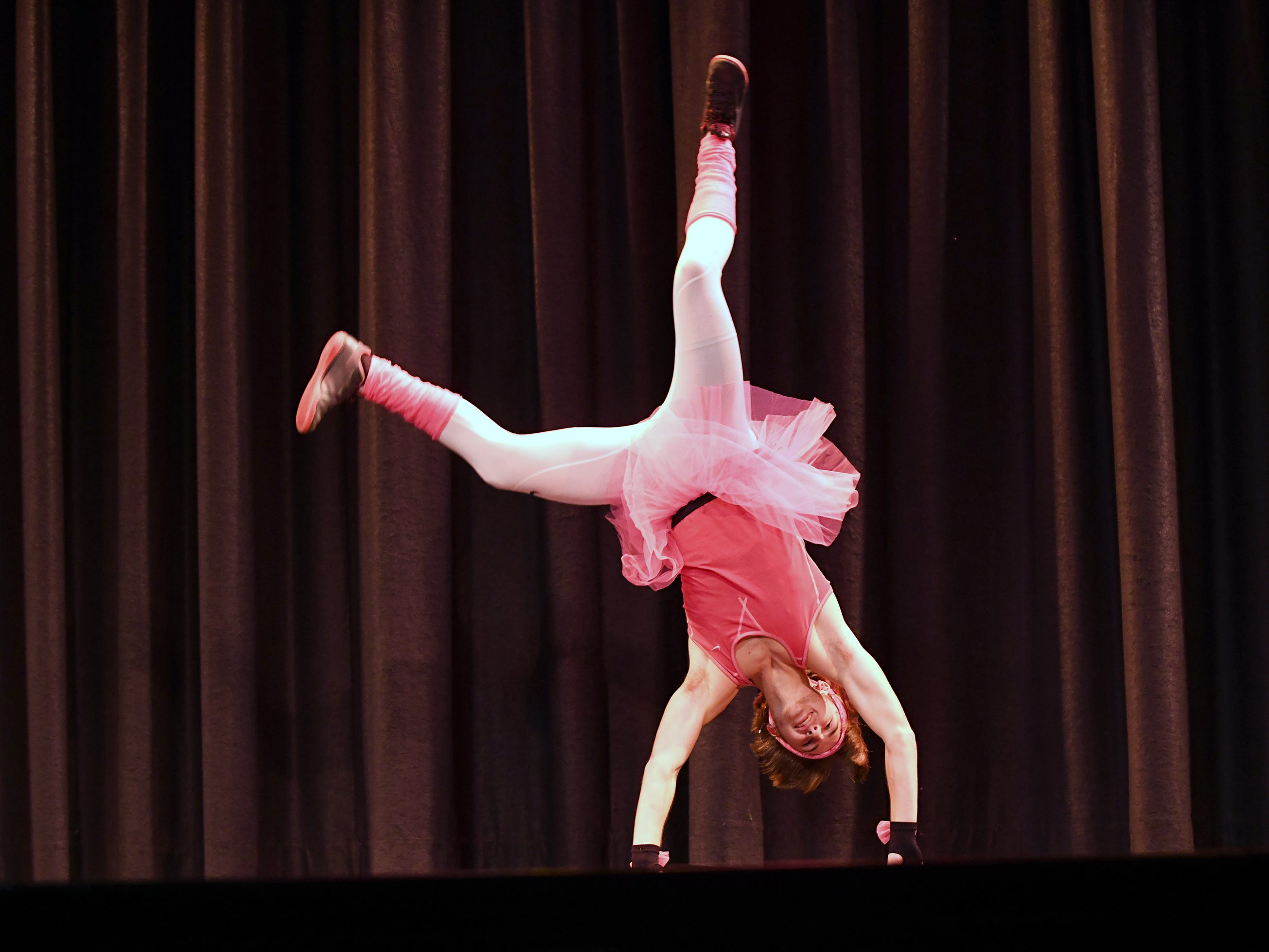 Lucas Portadin performs during the talent portion of Mr. Vineland 2019 at Vineland High School on Thursday, January 10.