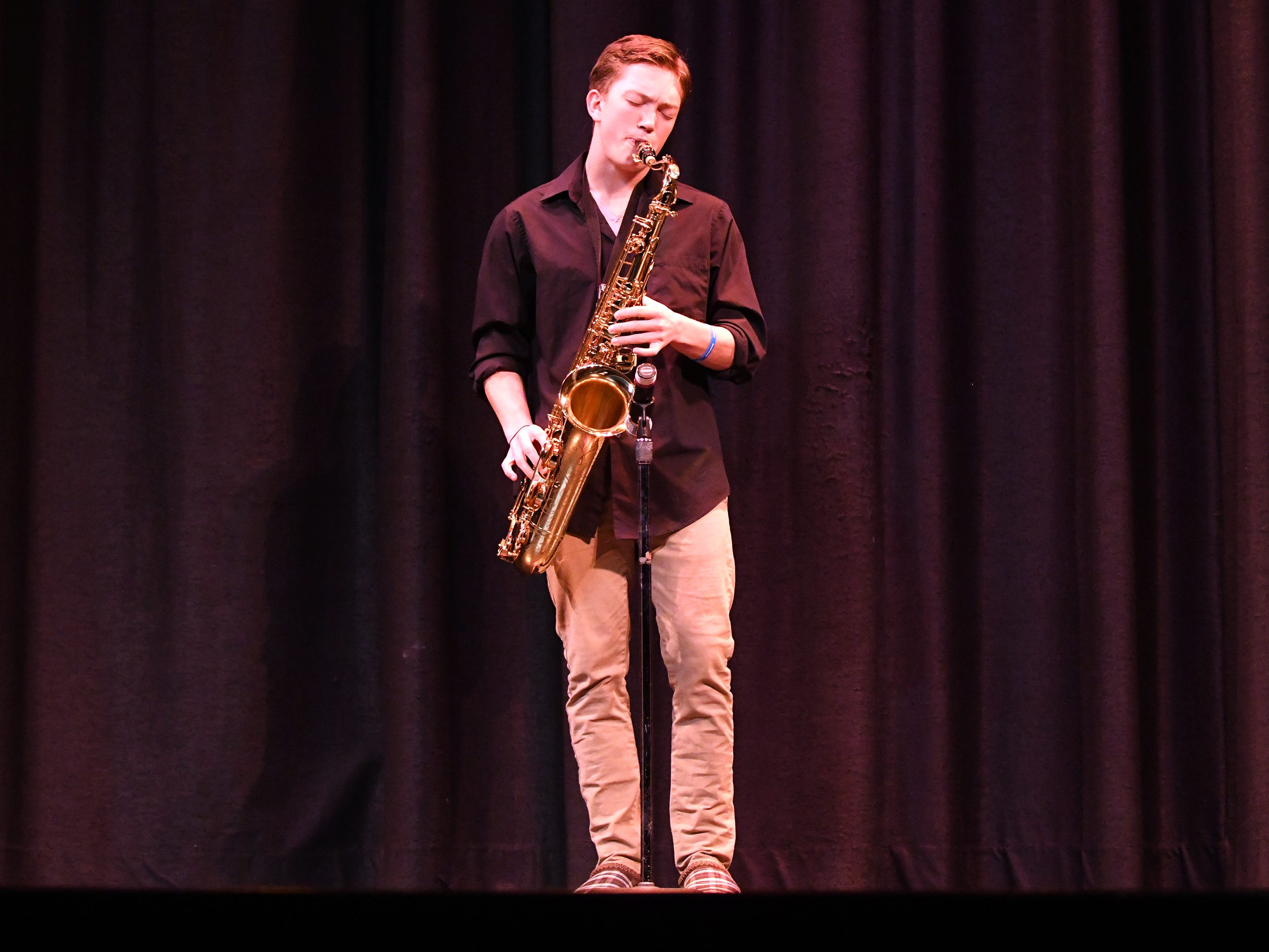 "Brandon ""Bubba"" Beyer performs during the talent portion of Mr. Vineland 2019 at Vineland High School on Thursday, January 10."