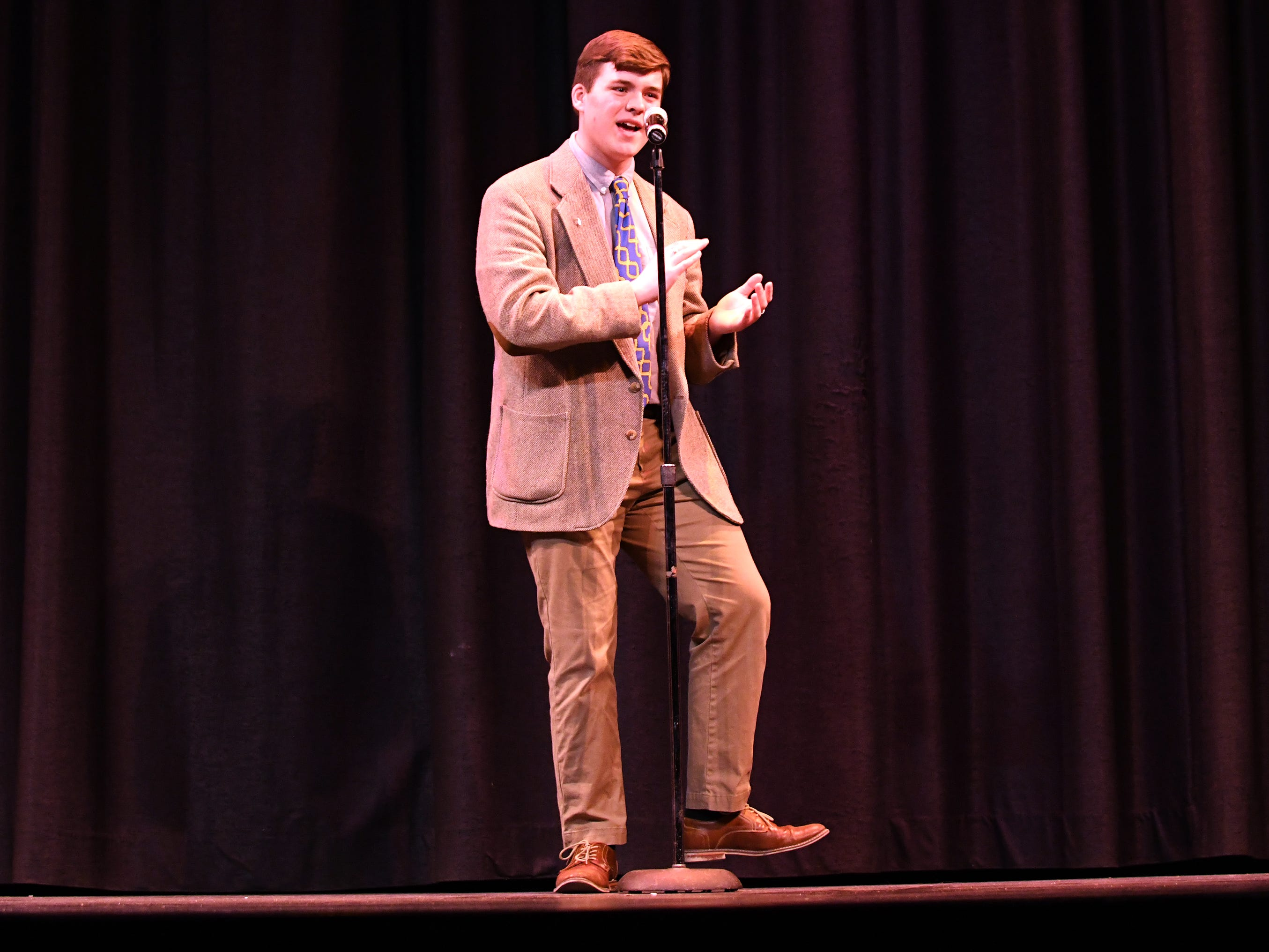 Curtis Riggins performs during the talent portion of Mr. Vineland 2019 at Vineland High School on Thursday, January 10.