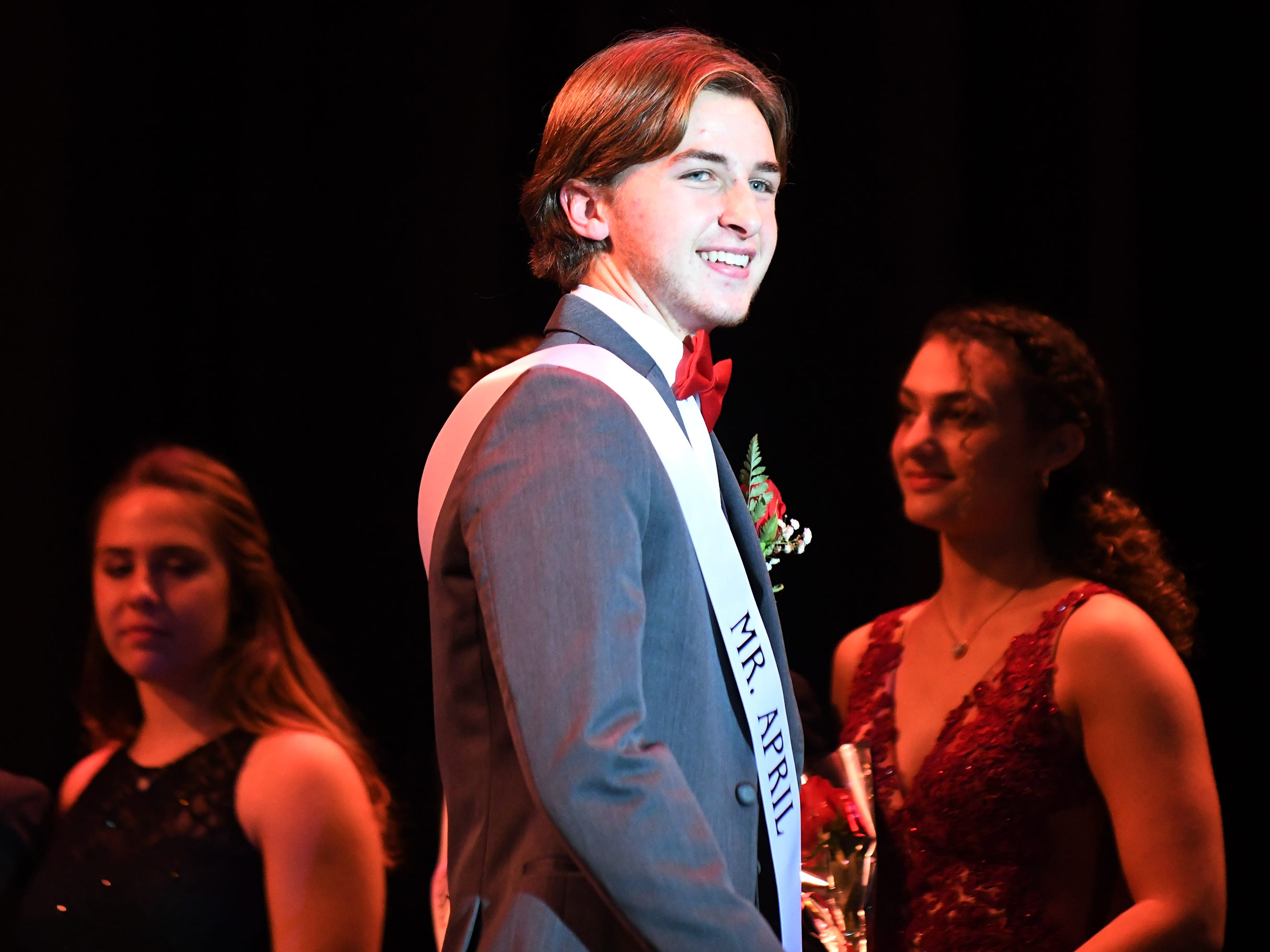 Lucas Portadin shows off his formal wear during Mr. Vineland 2019 at Vineland High School on Thursday, January 10.