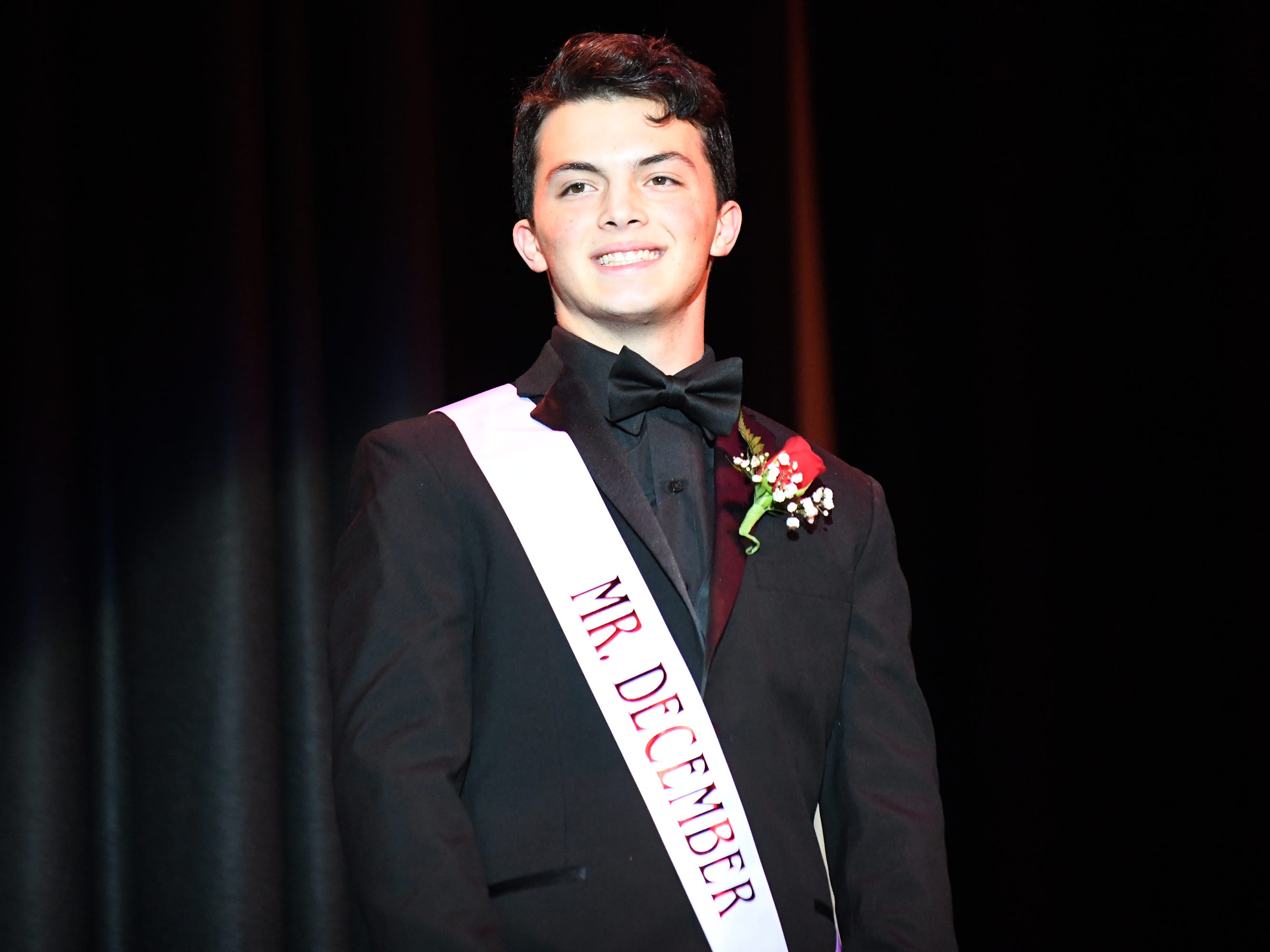 Camron Stahl shows off his formal wear during Mr. Vineland 2019 at Vineland High School on Thursday, January 10.