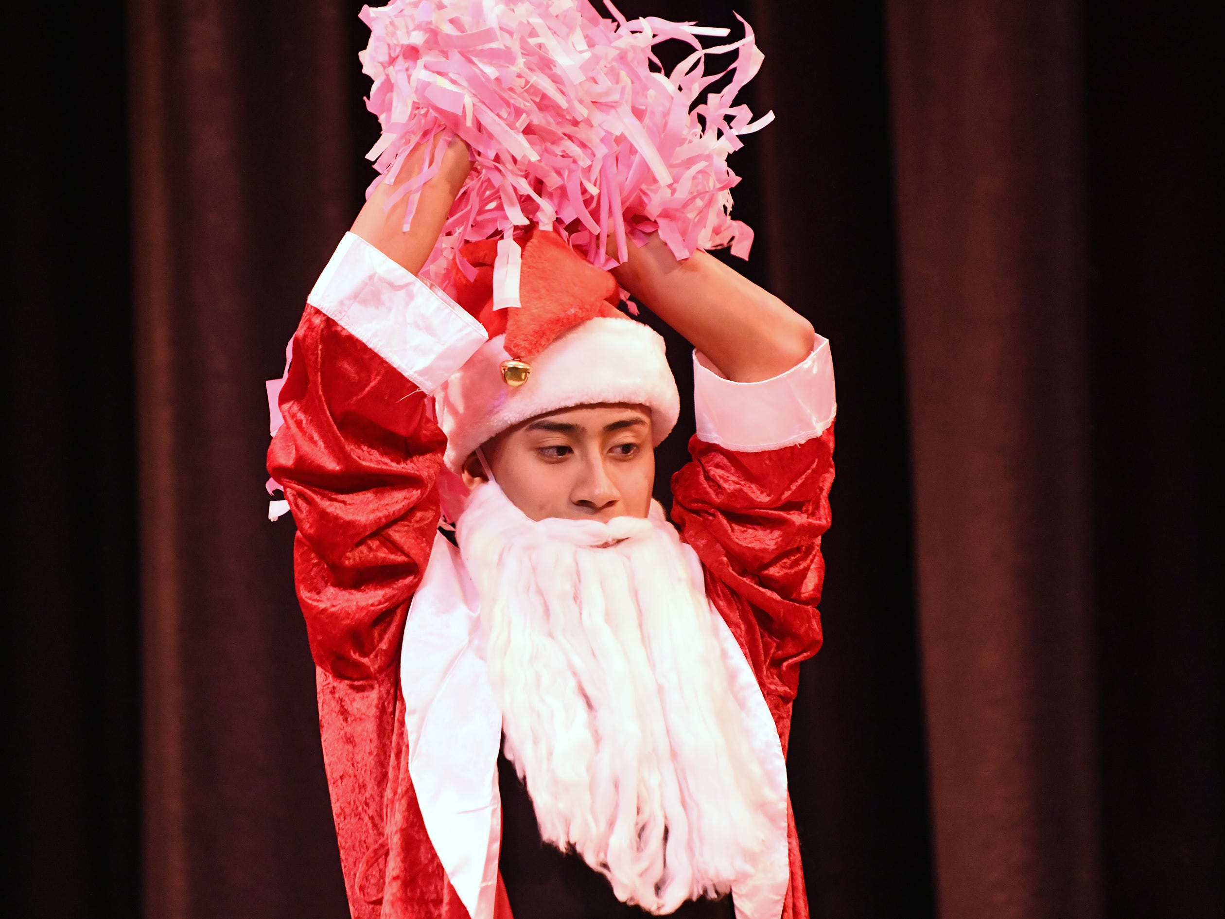 Maykon Hernandez performs during the talent portion of Mr. Vineland 2019 at Vineland High School on Thursday, January 10.