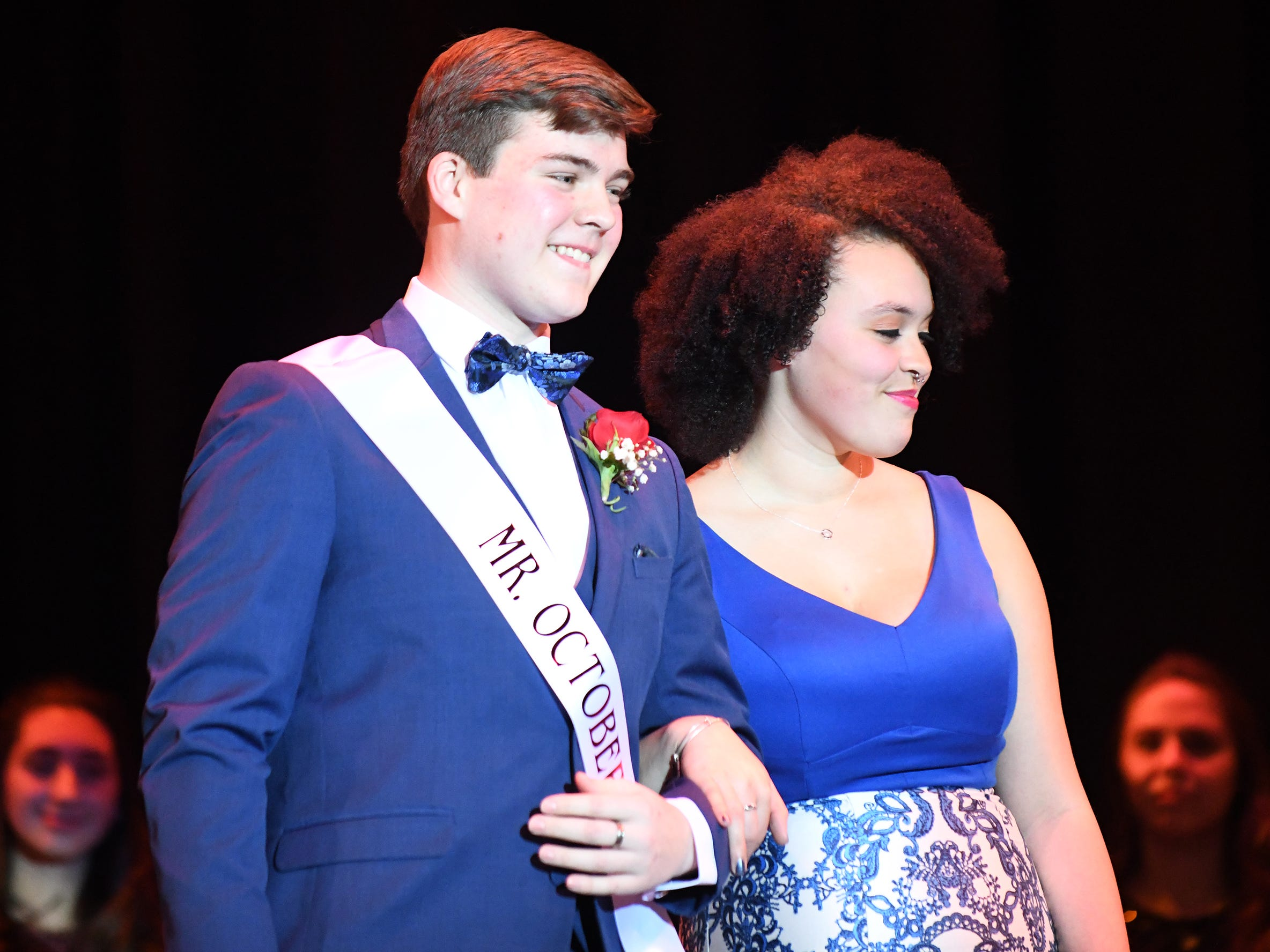 Curtis Riggins shows off his formal wear during Mr. Vineland 2019 at Vineland High School on Thursday, January 10.