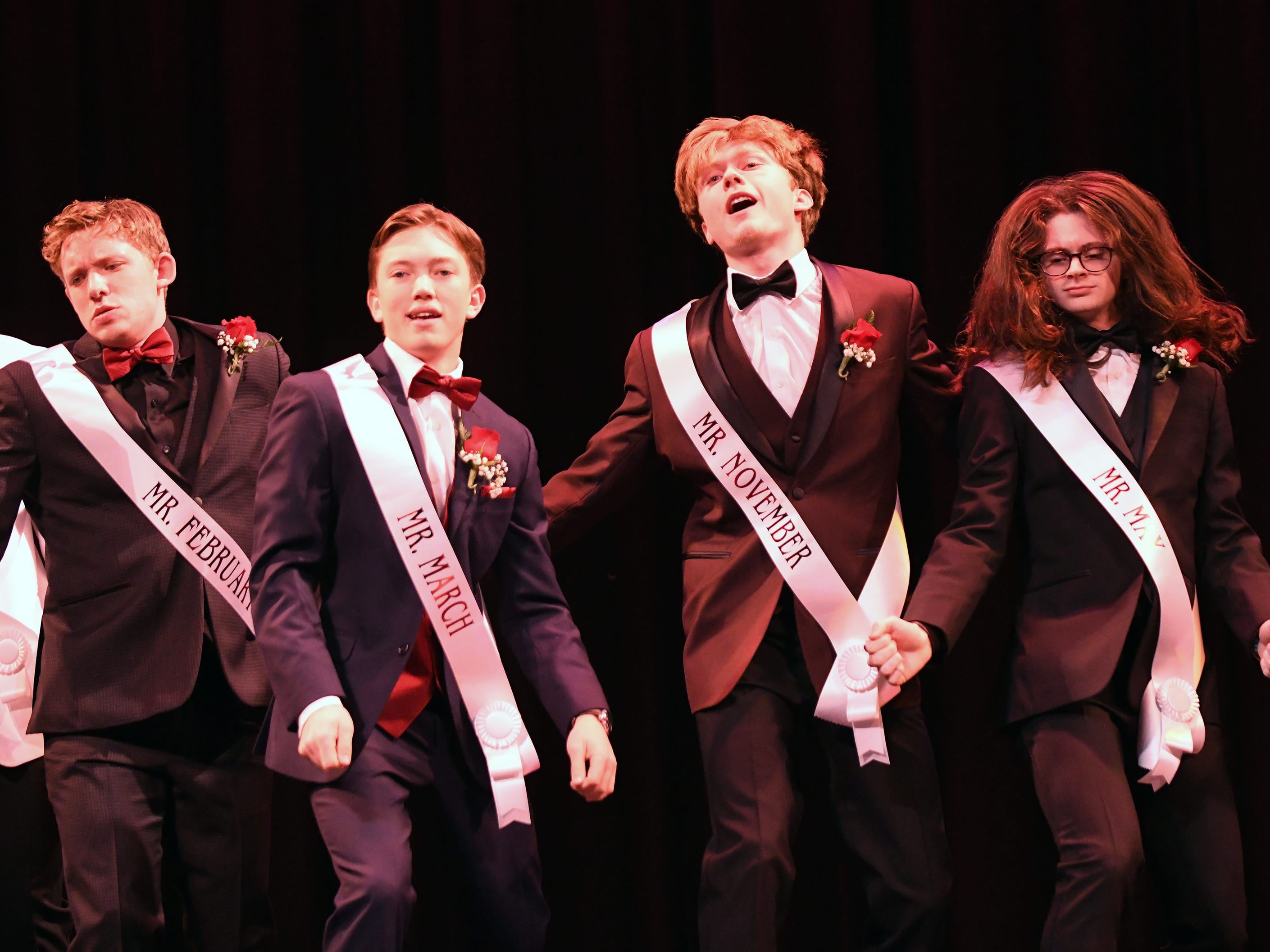 "From left to right, Tanner Bushman, Brandon ""Bubba"" Beyer, Tyler Kimmel and Trey Luciano perform during Mr. Vineland 2019 at Vineland High School on Thursday, January 10."