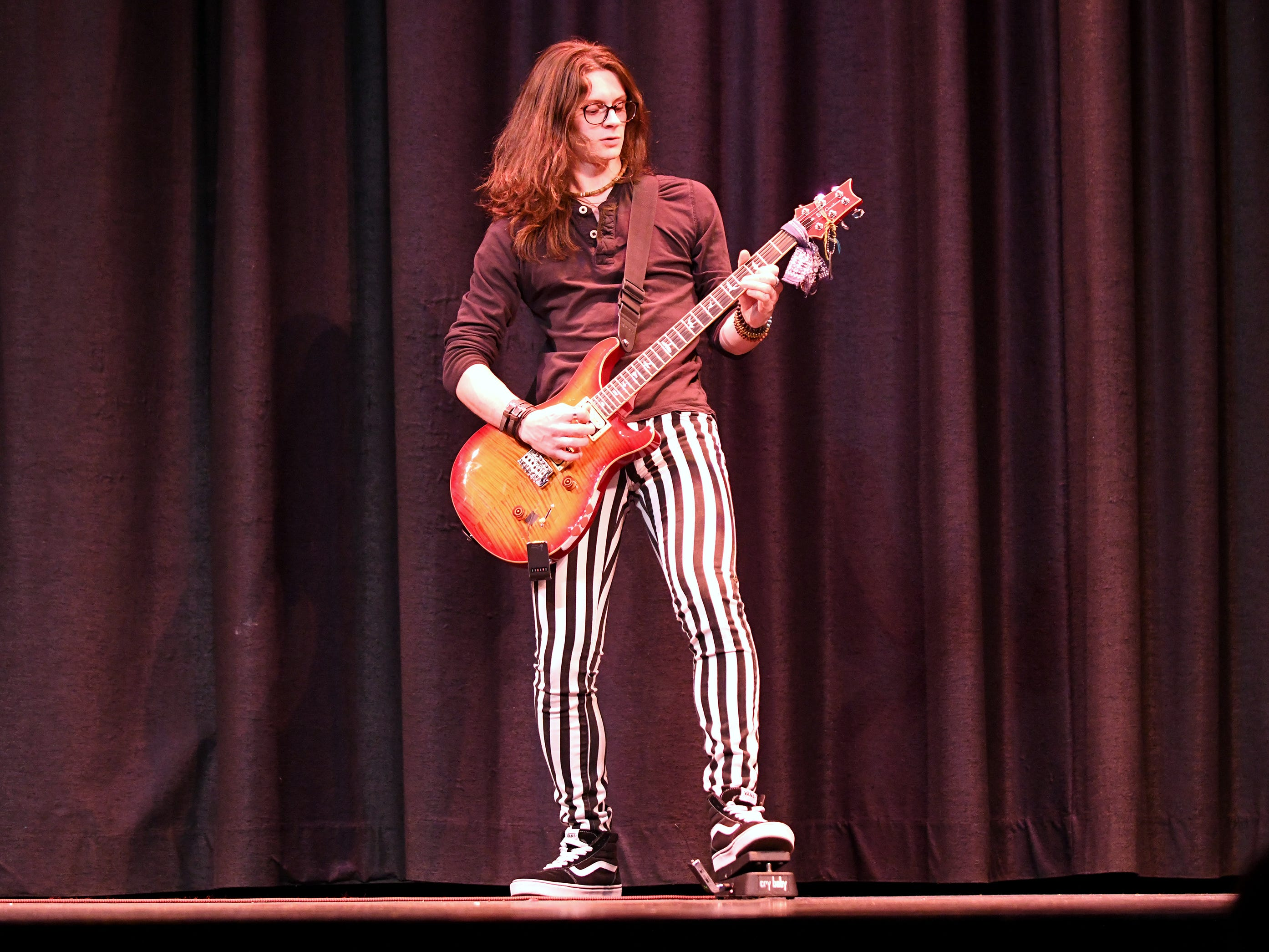 Trey Luciano performs during the talent portion of Mr. Vineland 2019 at Vineland High School on Thursday, January 10.