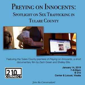 210 Connect's upcoming forum will put a spotlight on sex trafficking in Tulare County.