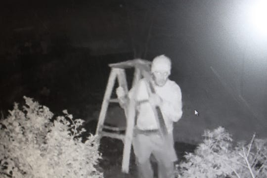 Bedford police are trying to identify a peeping Tom who was caught on a security camera outside a home on Cliffside Lane on Jan. 2, 2019.