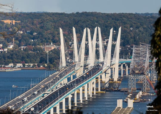 "The Gov. Mario M. Cuomo Bridge and the Tappan Zee Bridge in the image used in creating ""The Bridge,"" a 1,000-piece puzzle from The Journal News."