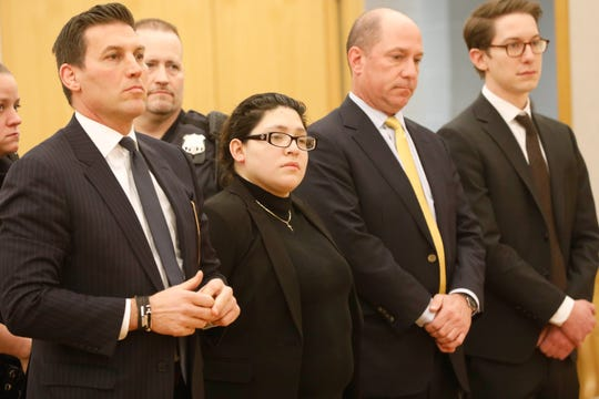 Cynthia Arce made a court appearance at the Westchester County Courthouse in White Plains on Jan. 11, 2019.  She was served an order of protection prohibiting any form of contact with her in-laws, former husband and his girlfriend.