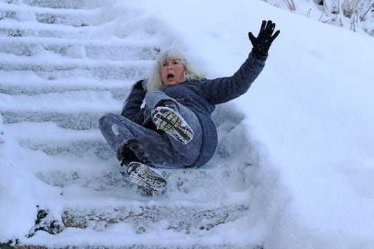 Slips and falls occur more frequently in the winter and can result in a visit to the ER.
