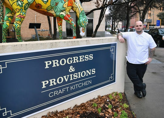 Kyle Dalka, chef and owner of Progress & Provisions Craft Kitchen, offers New American cuisine, including tradtional favorites given a new twist. The business is located in the Hamilton Building.