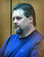 Jason Wayne Carlile in 78th District Court Friday morning for a pretrial hearing. Judge Barney Fudge set a trial date for June 3, 2019.