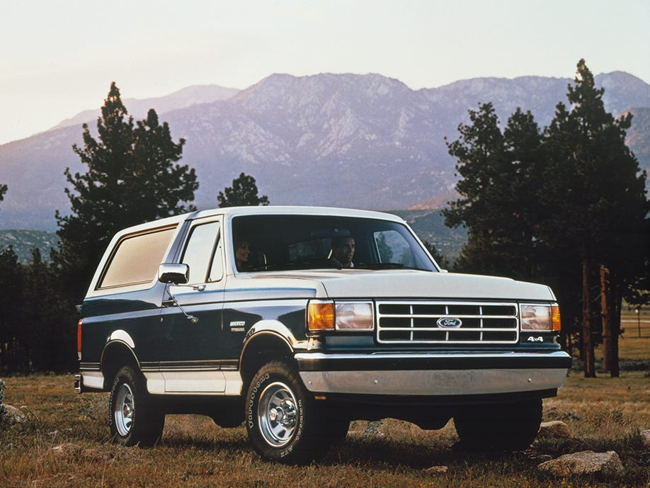 A 1987 Ford Bronco.