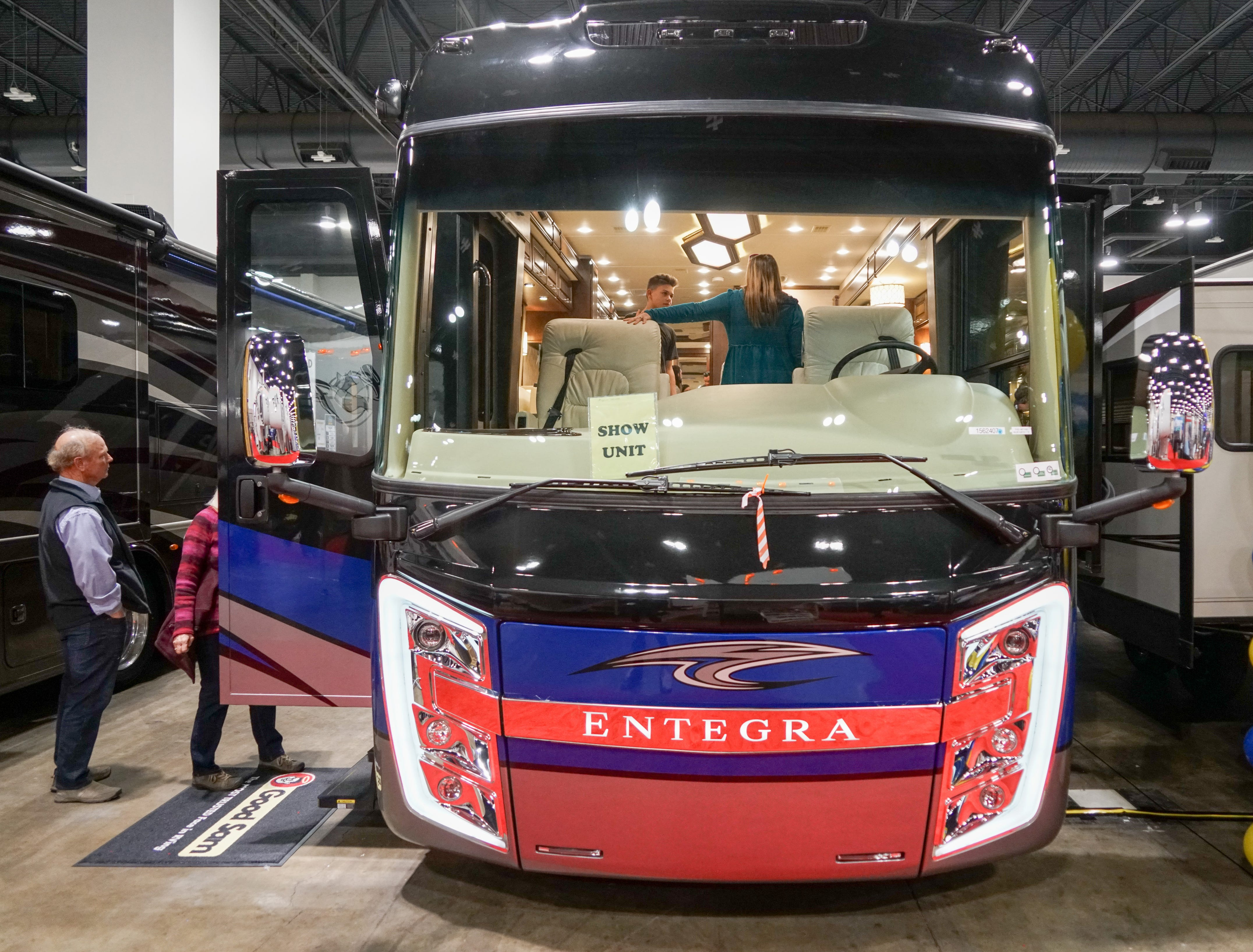 This RV, which is based on a bus chassis, is on sale for about $330,000.