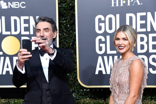 Producer Chuck Lorre and Arielle Mandelson attend the 76th Annual Golden Globe Awards