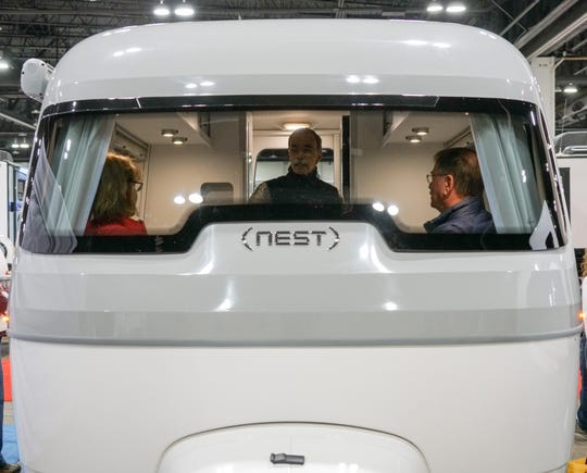 The iconic Airstream RV gets a modern update with the Nest, which is made from fiberglass instead of aluminum.
