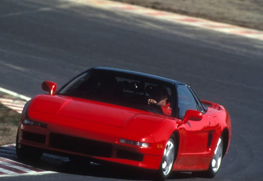 The Acura NSX debuted at the Detroit auto show  in 1990.