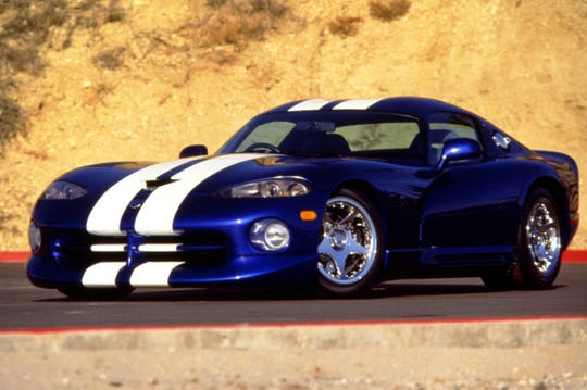The Dodge Viper GTS Coupe debuted at the Detroit auto show in 1996.