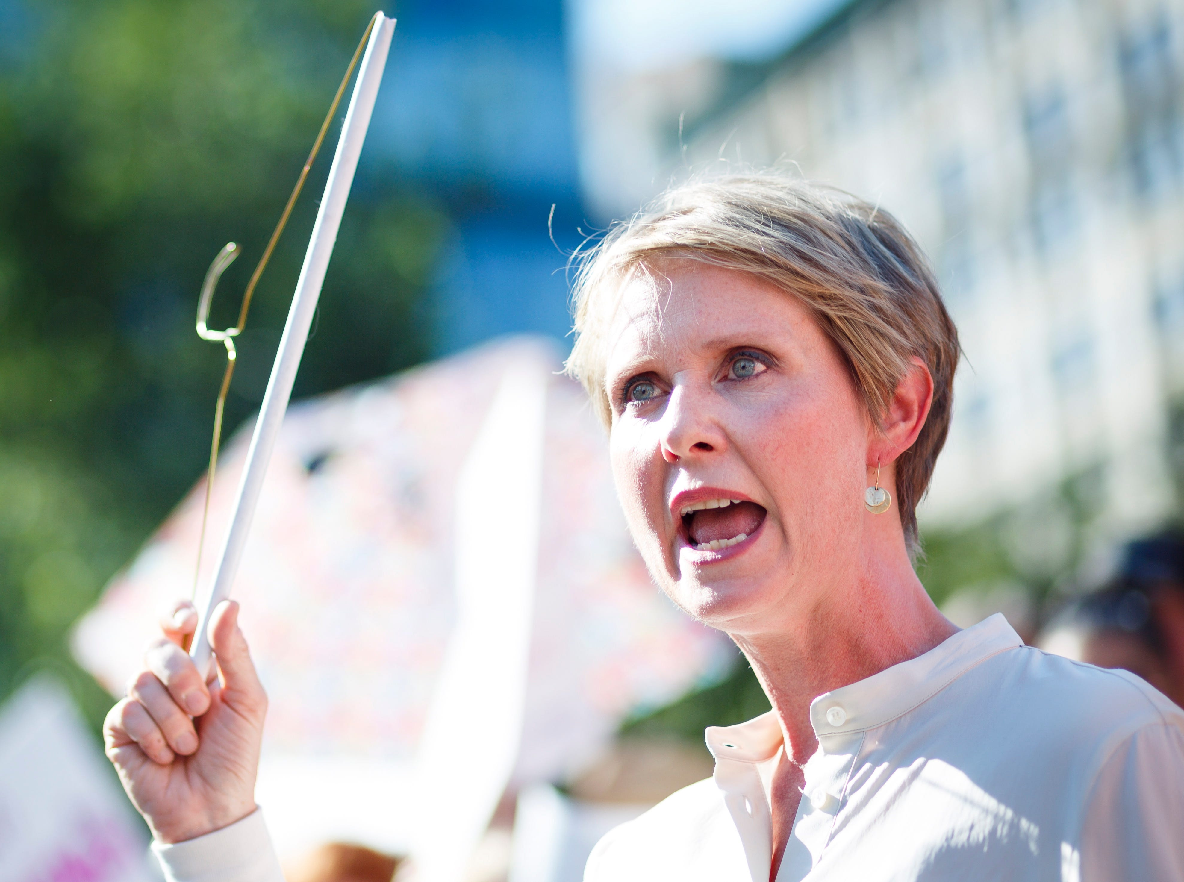 """""""Sex And The City"""" star Cynthia Nixon threw her hat into the ring of the New York governor's race in 2018. She was endorsed by co-stars Sarah Jessica Parker and Kim Cattrall."""