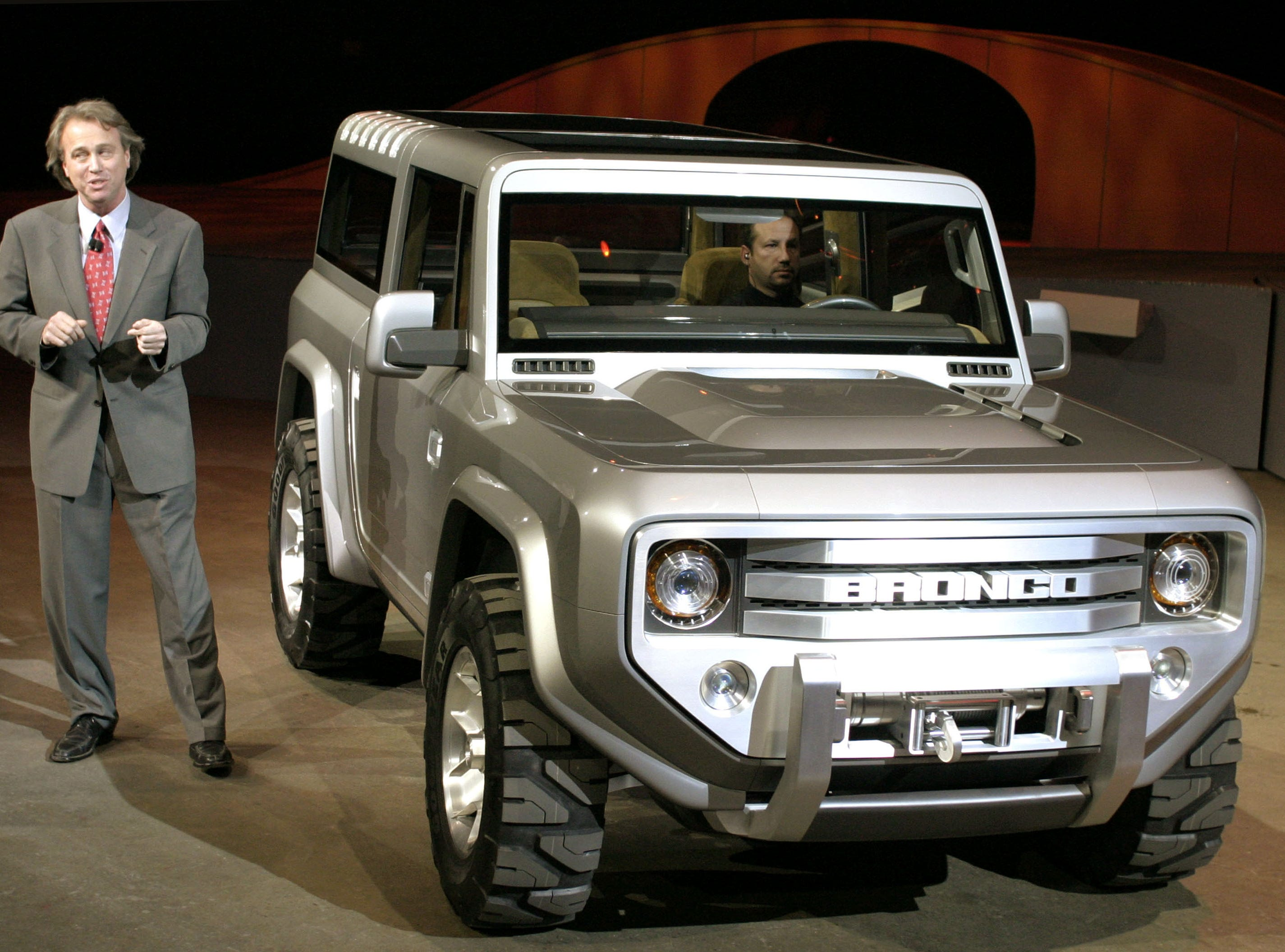 This is Ford Bronco concept vehicle introduced at the the North American International Auto Show Jan. 4, 2004.  The Ford Bronco SUV is heading to dealerships as a 2020 model, seeking to recapture the intensely loyal following it once had.