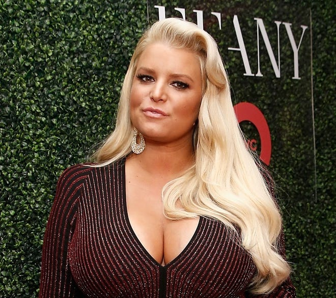 An expecting Jessica Simpson in New York City on Oct. 11, 2018.