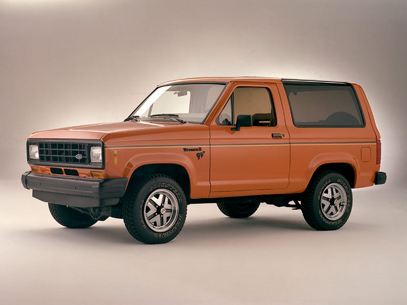The 1983 Ford Bronco II.