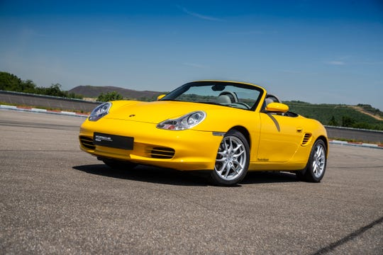 The Porsche Boxster debuted at the Detroit auto show in 1993.