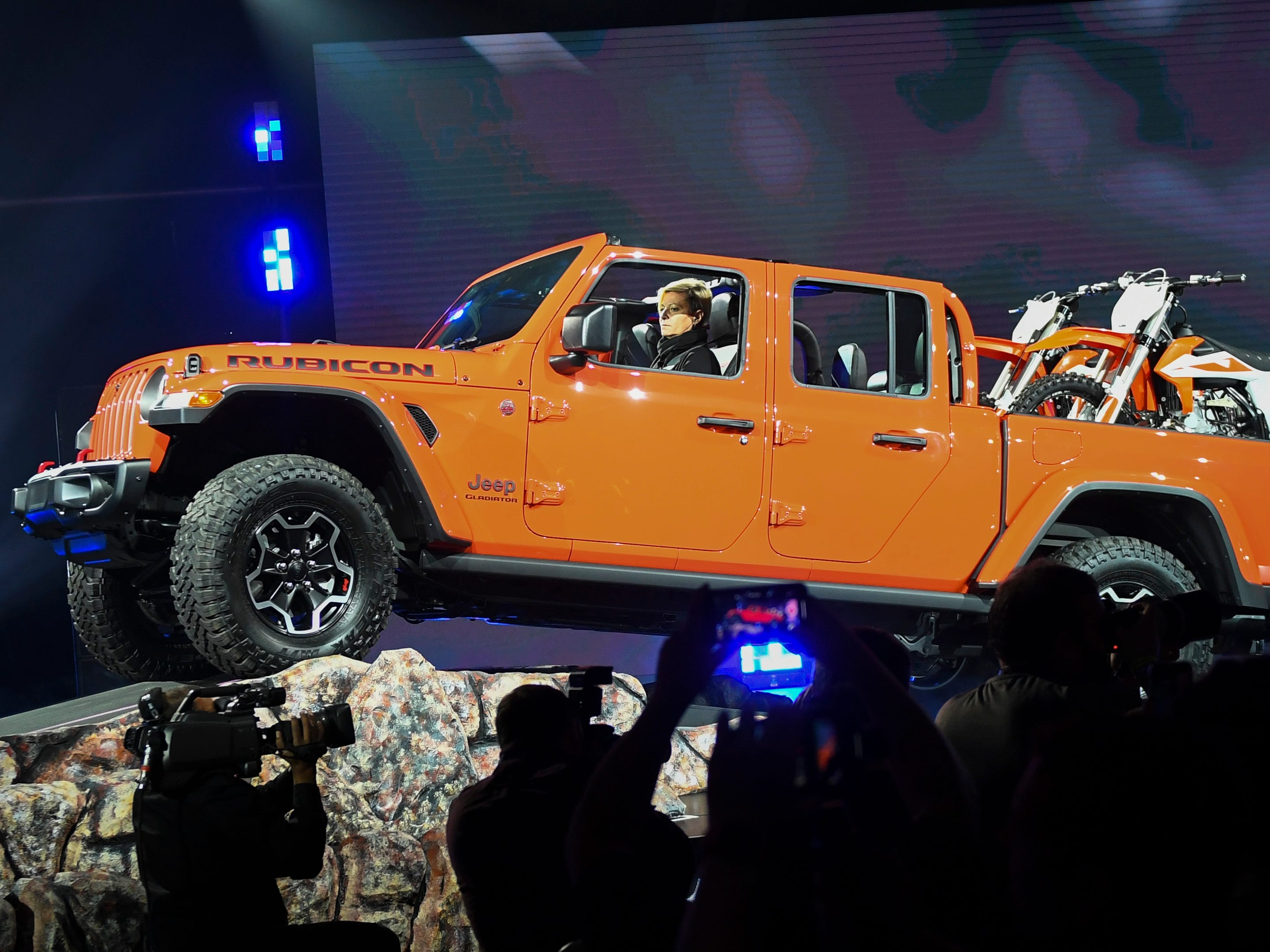 The Jeep Gladiator Rubicon during the Los Angeles Auto Show, Nov. 26, 2018.