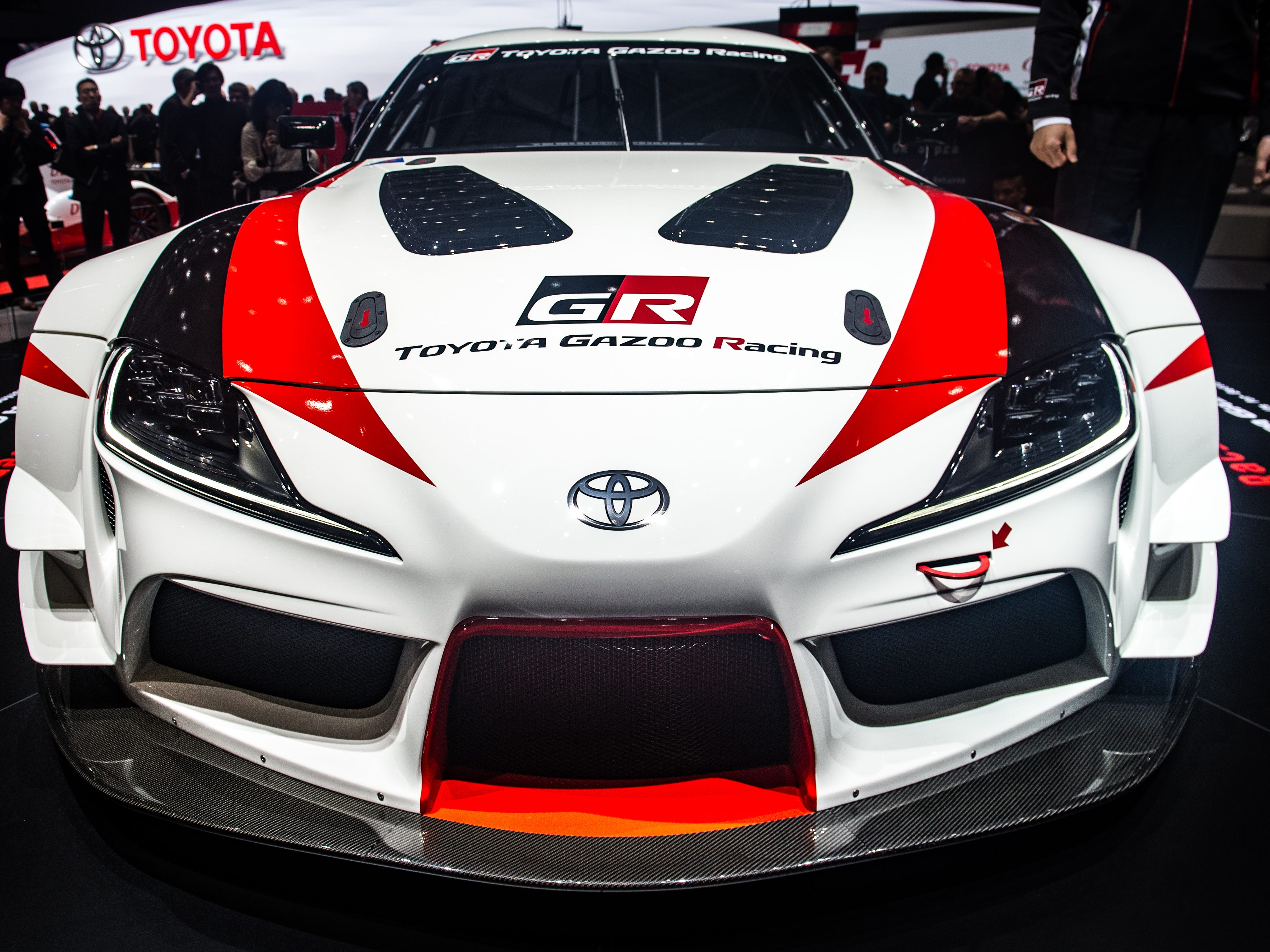 A Toyota GR Supra Racing Concept is at the 88th Geneva International Motor March 6, 2018.