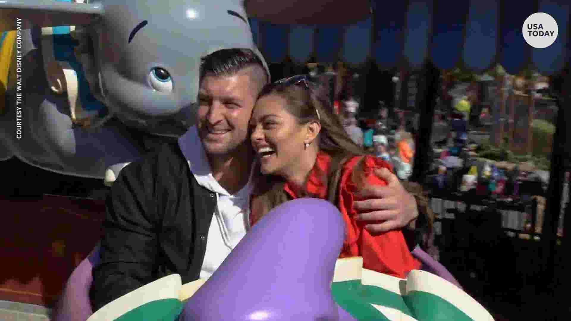 Tim Tebow New Fiancee Demi Leigh Nel Peters Celebrate At Disney World