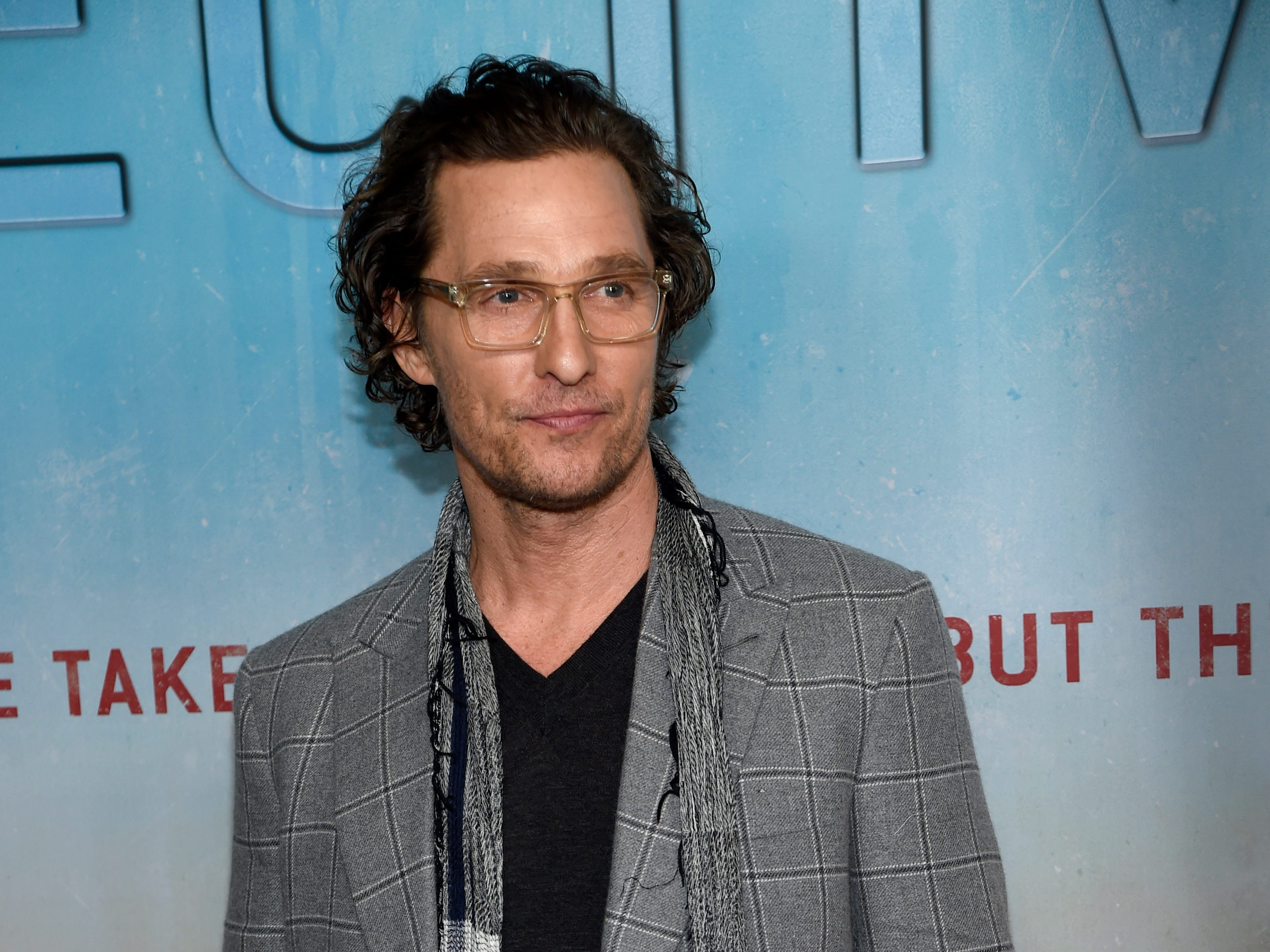 "Executive producer Matthew McConaughey arrives at the Los Angeles premiere of ""True Detective"" season 3 at the Directors Guild of America on Thursday, Jan. 10, 2019. (Photo by [Chris Pizzello/Invision/AP) ORG XMIT: CAPM123"