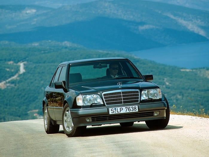 The Mercedes-Benz 500 E, model year unknown.