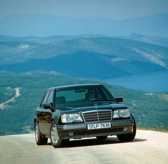 The Mercedes-Benz 500E debuted at the Detroit auto show in 1991.