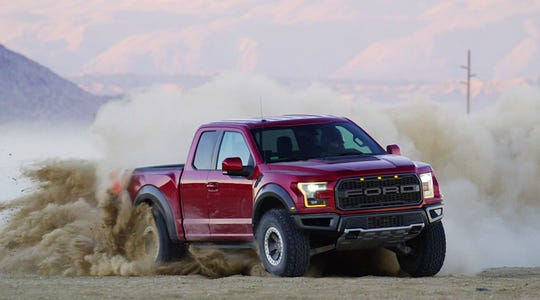 The Ford F-150 Raptor debuted at the Detroit auto show in 2015.