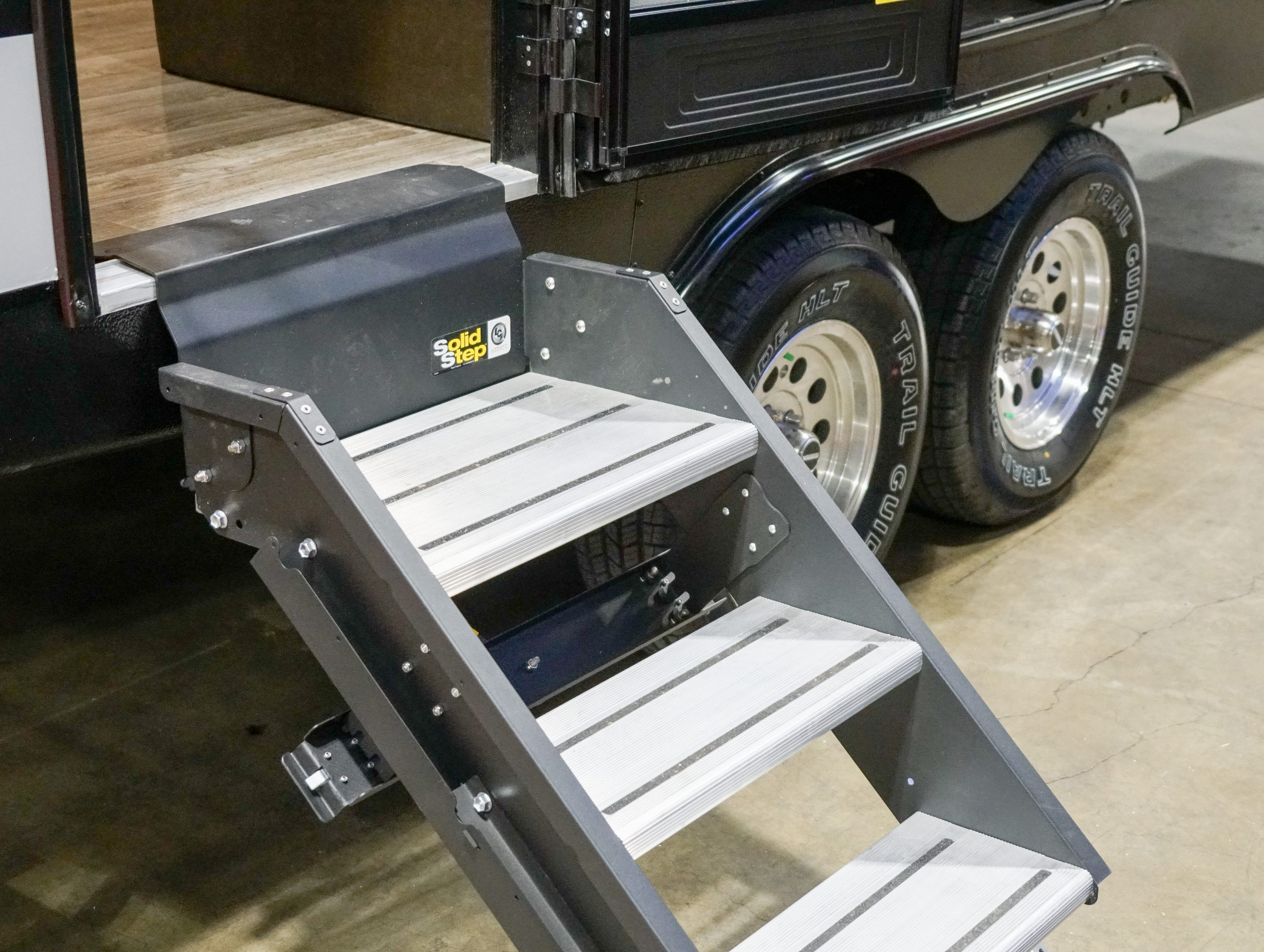 Many RVs now offer more study steps than the older-style folding-ladder ones that some people found precarious.