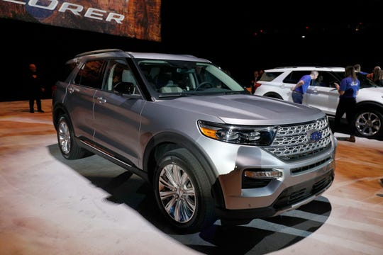 The new 2020 Ford Explorer SUV is revealed at Ford Field on Jan. 9, 2019.  The new 2020 Explorer is the sixth generation of Ford's all-time best-selling SUV.