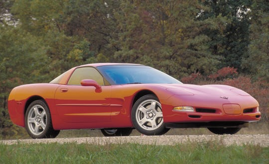 The Chevrolet Corvette debuted at the Detroit auto show in 1997.