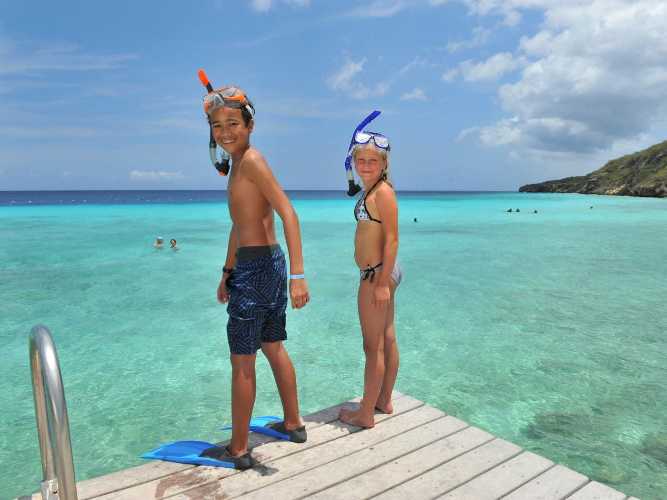 Curacao's reefs are shallow enough for young snorkelers.
