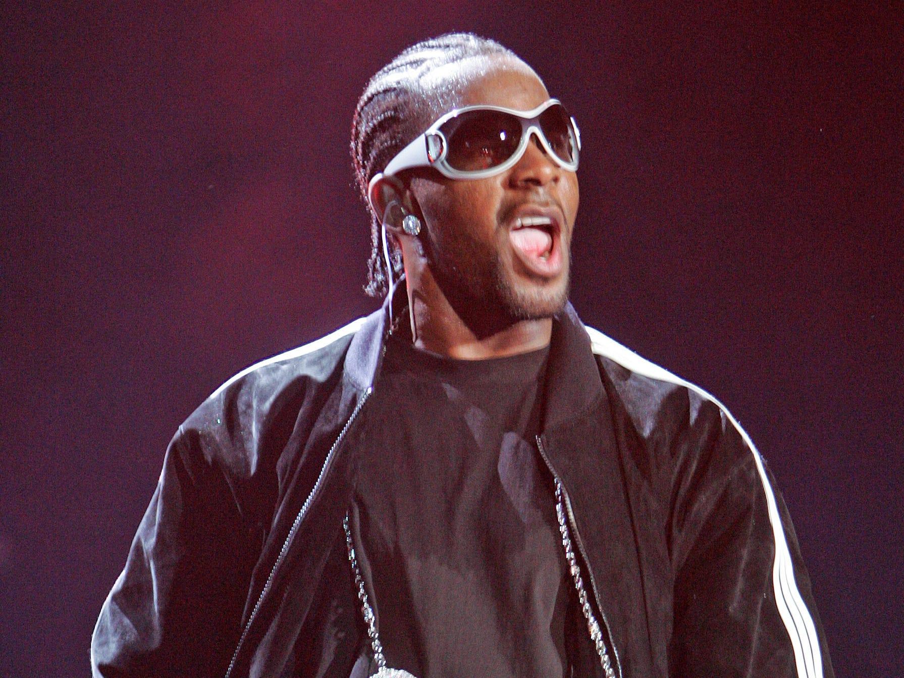 R. Kelly performs at Philips Arena in Atlanta on Nov. 15, 2007.