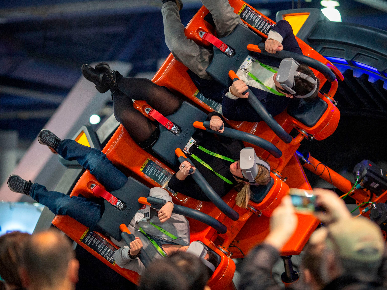 The DOF Robotics Hurricane 360 VR ride.
