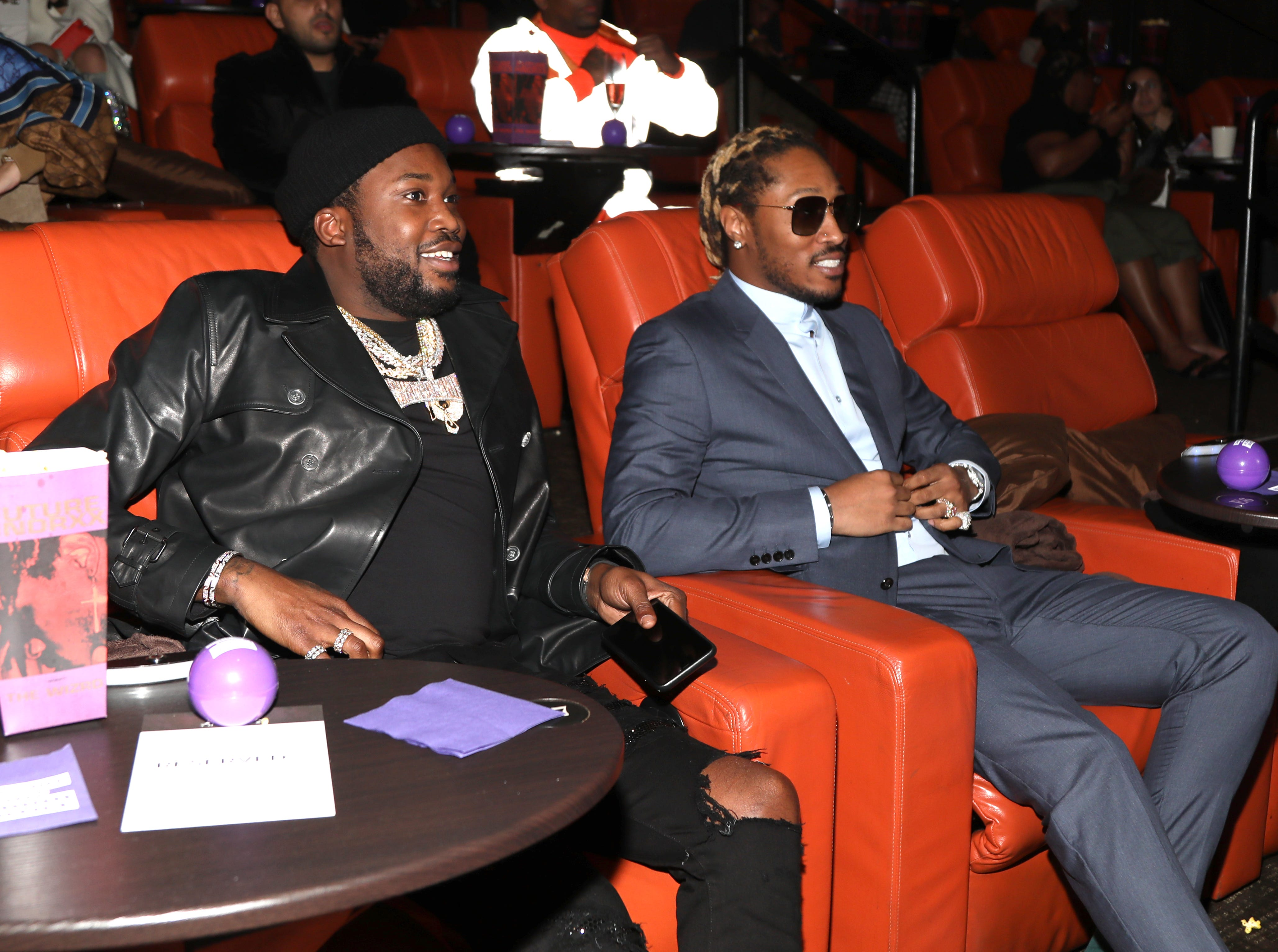 LOS ANGELES, CALIFORNIA - JANUARY 08: Meek Mill and Future attend a screening of Future Hndrxx Presents: The Wizrd Documentary on January 08, 2019 in Los Angeles, California. (Photo by Jerritt Clark/Getty Images for Future ) ORG XMIT: 775279372 ORIG FILE ID: 1080487726