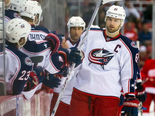 Rick Nash starred for the Columbus Blue Jackets for nine seasons before being traded to the New York Rangers.