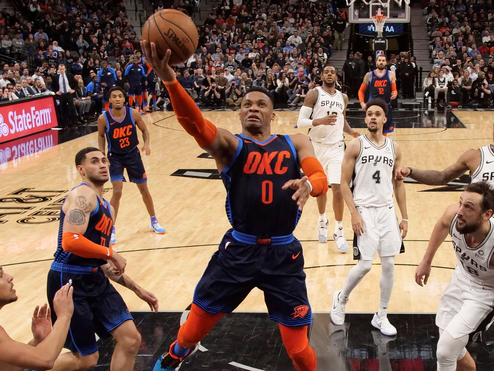 49. Russell Westbrook, Thunder (Jan. 10): 24 points, 24 assists, 13 rebounds in 154-147 loss to Spurs (13th of season).